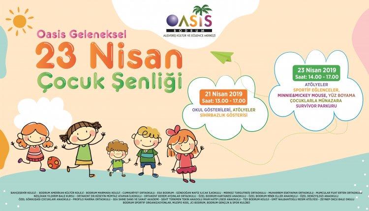 Oasis 23 Nisan Çocuk Şenliği Başlıyor