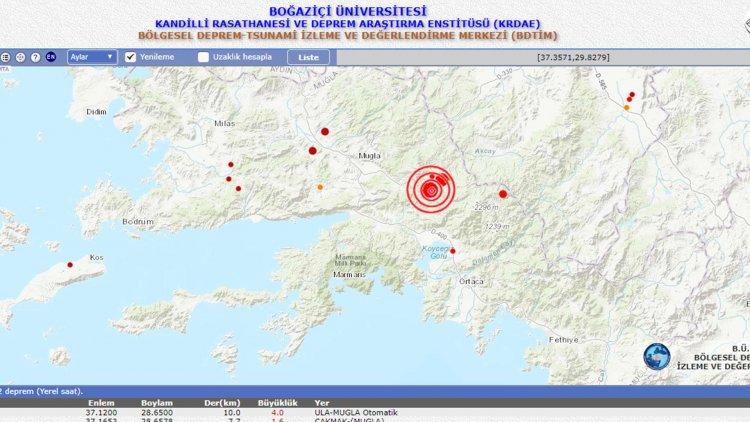 Ula'da Korkutan Deprem!..
