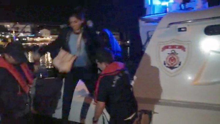Datça'da Sürüklenen Bottaki Göçmenler Kurtarıldı