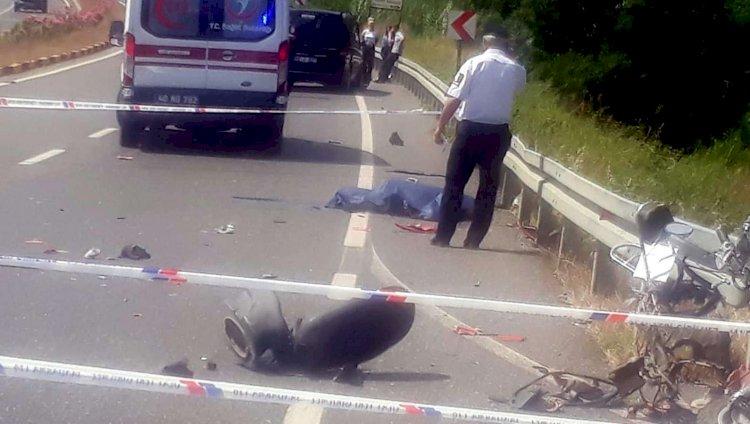 Minibüsün Çarptığı Motosikletin Sürücüsü Yaşamını Kaybetti!