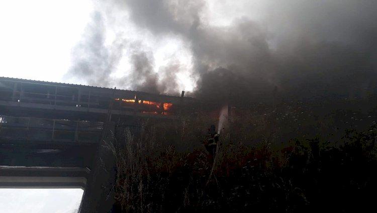 Termik Santralde Panik Yaratan Yangın!