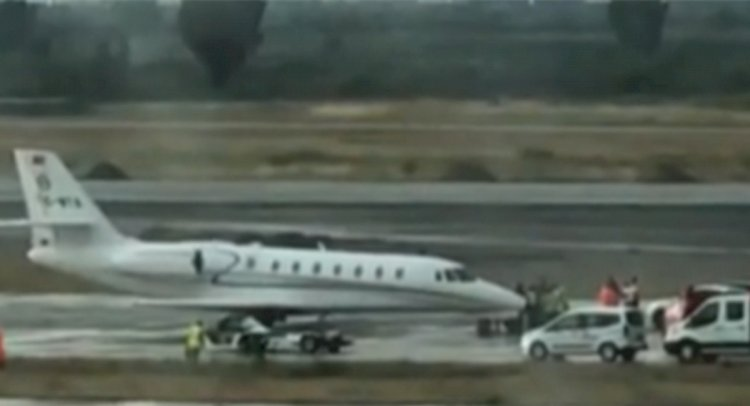 Bodrum'da Özel Uçak Pistten Çıktı!