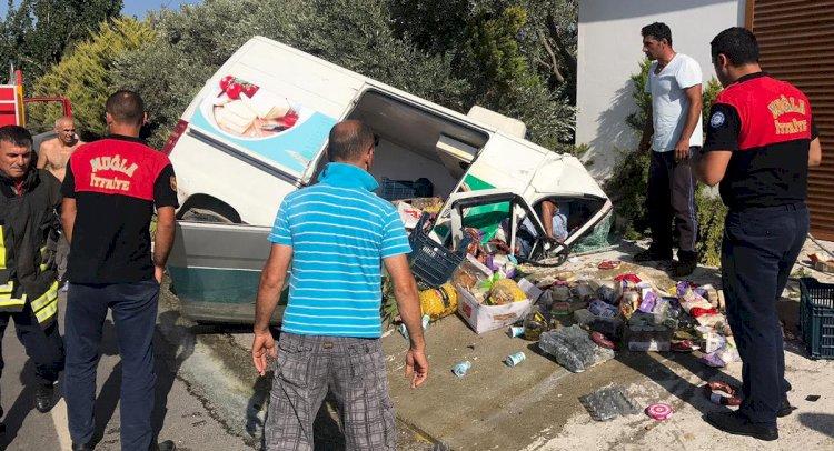 Datça'da Minibüs Kazası; 3 Yaralı