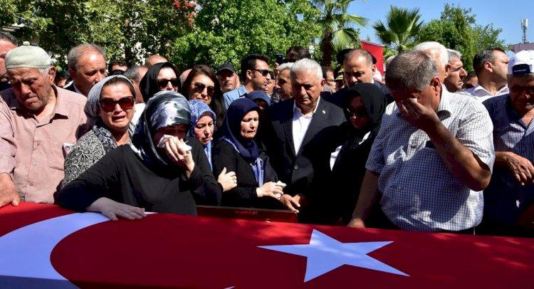 Şehit Üsteğmen, Dalaman'da Gözyaşlarıyla Uğurlandı