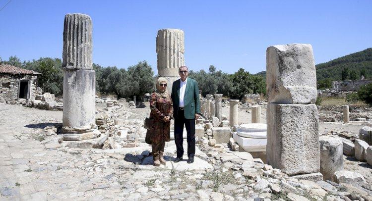 Cumhurbaşkanı Erdoğan, Stratonikeia'yı Gezdi